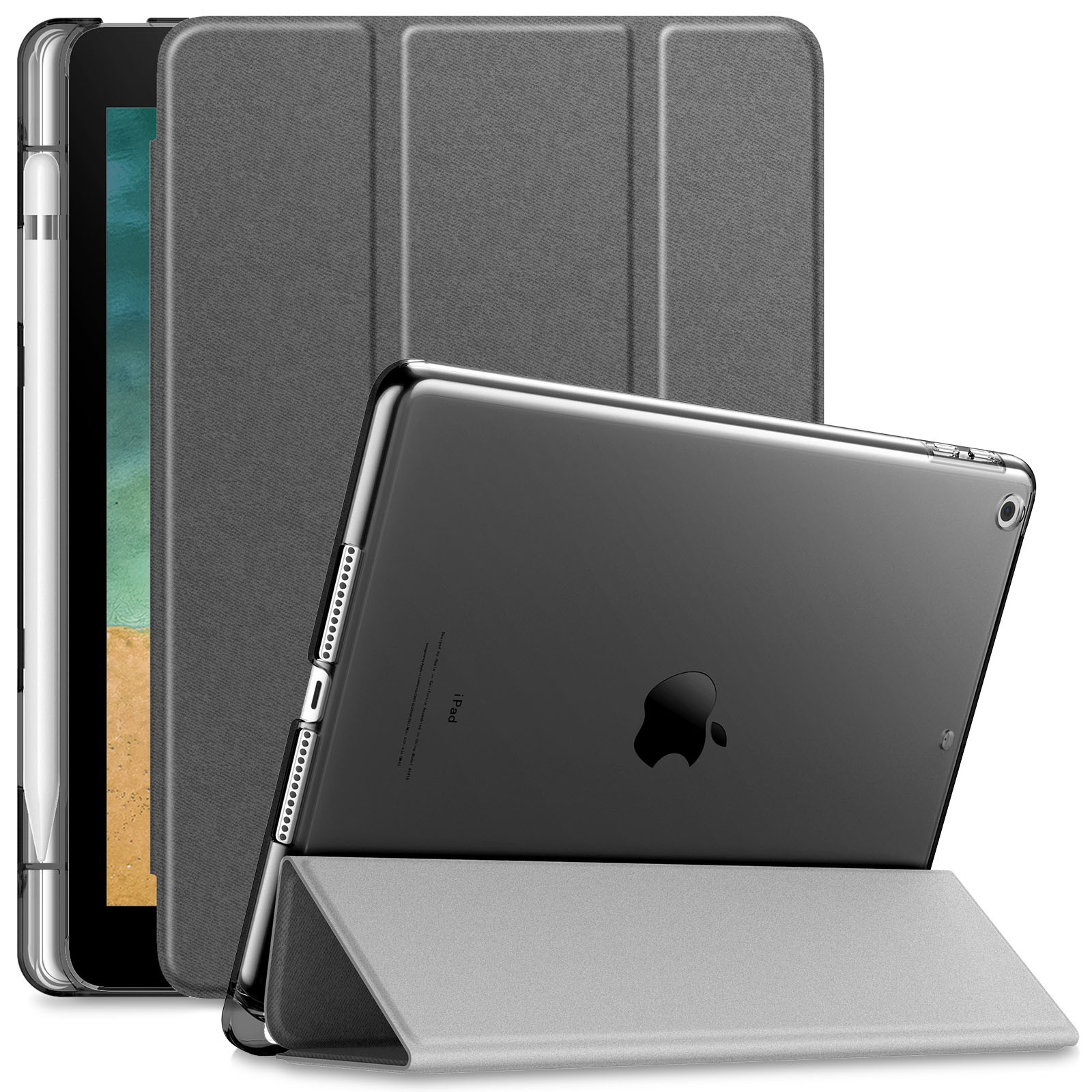 Capa Transparente Series iPad Air 9.7 pol 2013 com Suporte Para Caneta A1474 A1476
