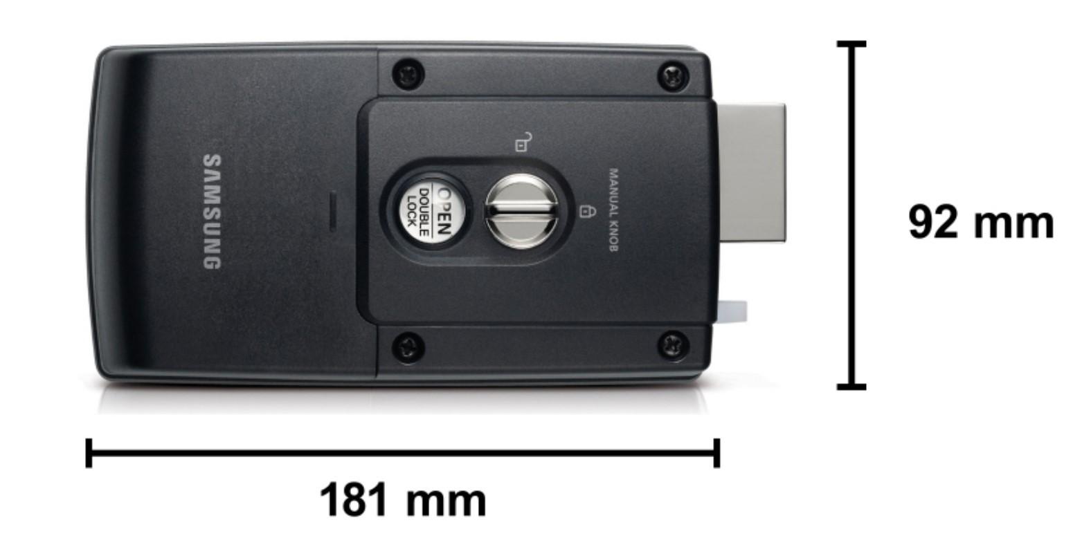Fechadura Digital de Sobrepor Samsung Ultra Slim SHS-1321 Até 20 Cartões e 20 Senhas