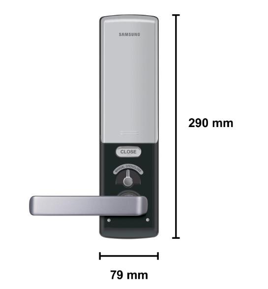 Fechadura Digital Embutida Samsung SHS-H505 com Maçaneta Até 30 Cartões de Acesso