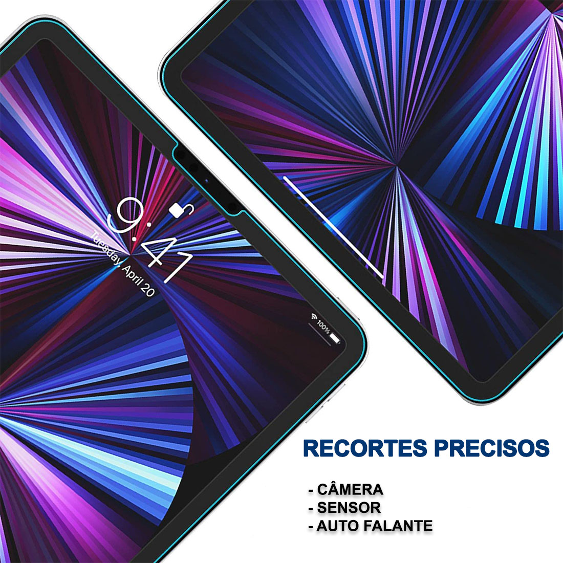 """Kit 3 Películas De Vidro Temperado iPad Pro 11"""" (2021) A2301 A2377 A2459"""