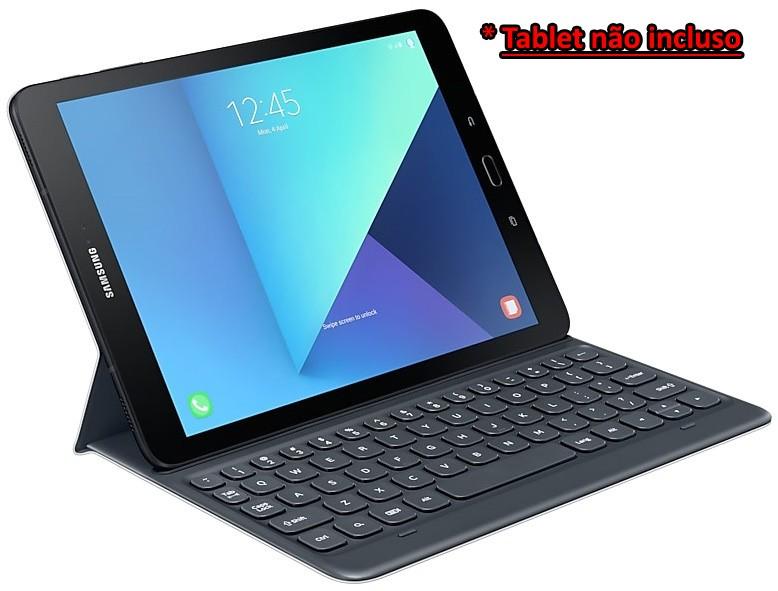 Kit de Acessórios Original Samsung Para Galaxy Tab S3 Capa Book Cover mais Capa Teclado e Película - Tablet não incluso