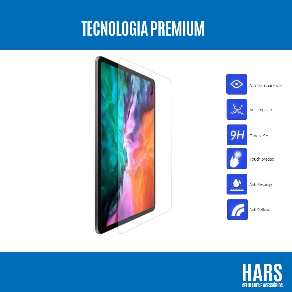 Película De Vidro Clear Temperado iPad Pro 11 Modelo 2020 (A2228 A2068 A2230)
