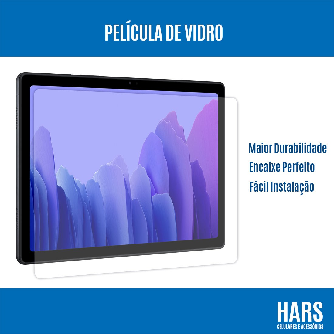 Película De Vidro Premium Samsung Galaxy Tab A7 10.4 pol SM-T505