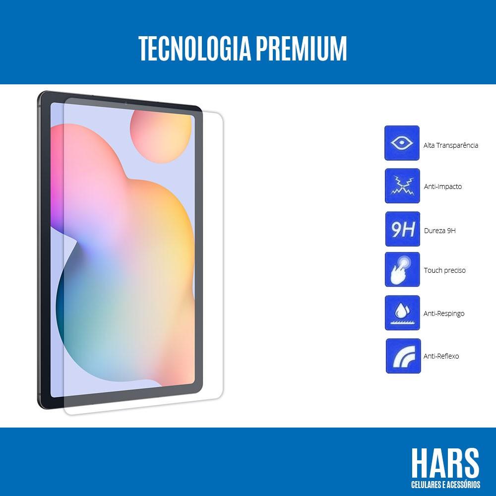 """Película De Vidro Premium Samsung Galaxy Tab S6 Lite 10.4"""" SM-P610 e SM-P615"""