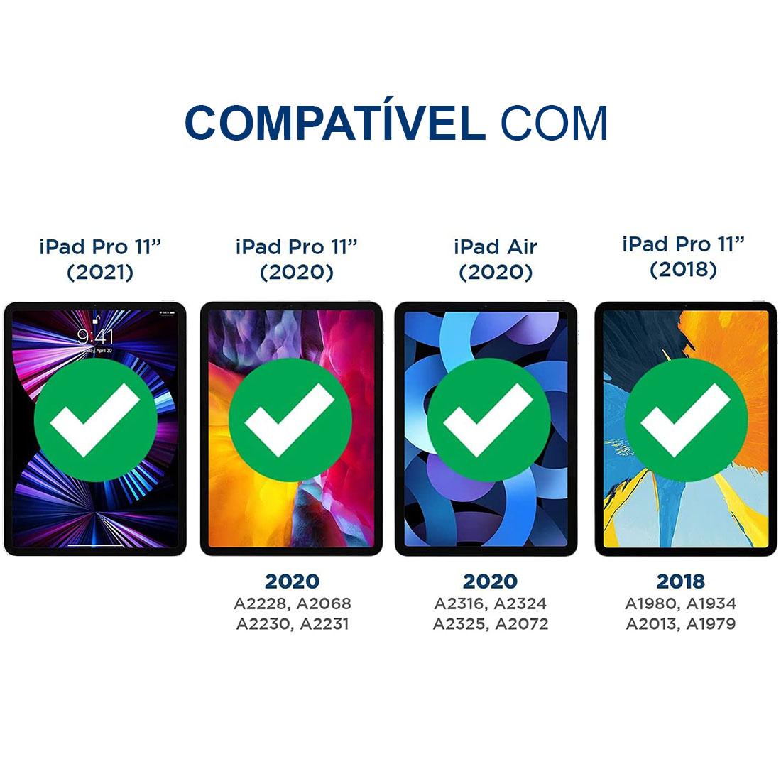 "Película de Vidro Temperado Premium iPad Pro 11"" (2021) A2301 A2377"