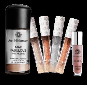 Ana Hickamnn Kit Sombras + Base Mousse + Gloss