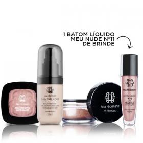 Ana Hickmann Kit Casual com BRINDE ESPECIAL - Base Skin Fabulous + Pó Facial Solto HD Translucido