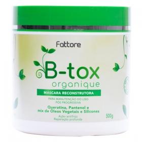 Fattore Máscara Reconstrutora B-tox Organique Manutenção Liso 500g