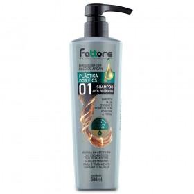 Fattore Shampoo Plástica dos Fios Anti-Resíduos 500ml