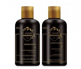 G.Hair KIT Escova Marroquina (Shampoo 300ml e Tratamento 300ml)