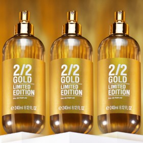 Kit 3 Perfumes 2/2 240ml Gold + Brinde Especial