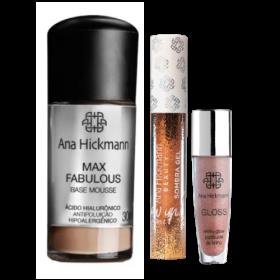Kit Ana Hickmann Base Max Fabulous + Sombra Gel + Gloss