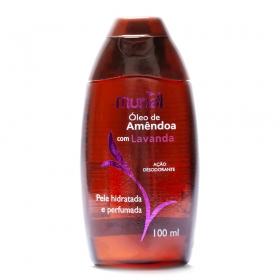 Óleo corporal de Amêndoas com Lavanda 100ml ação desodorante