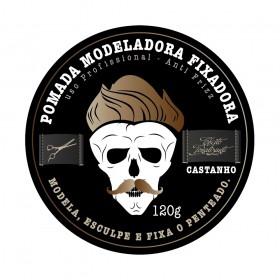 Muriel Pomada Modeladora Fixadora Studio Hair Efeito Tom Castanho 120g