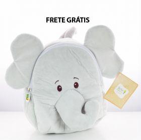 Presente Maternidade - Mochila Elefante + Kit Bebê Natureza Suave Extrato de Algodão