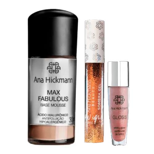 Ana Hickmann Kit Base Mousse + Sombra Gel + Gloss