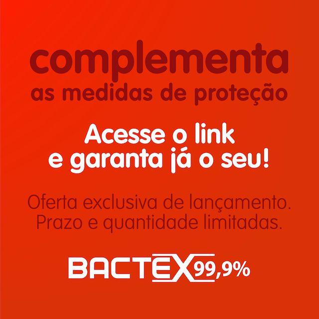 Bactex 99,9% Antisséptico Mata Germes e Bactérias - 03 Refis de 240ml