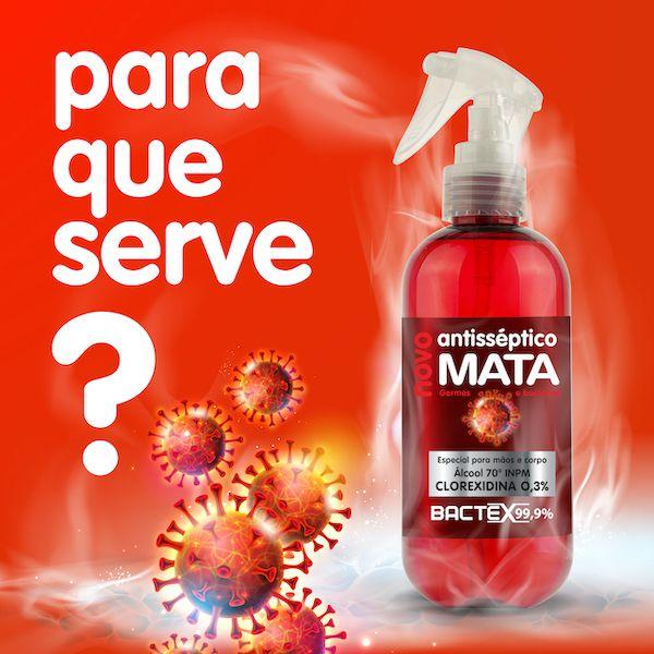 Bactex 99,9% Antisséptico Mata Germes e Bactérias Spray 240ml - O único com Clorexidina 0,3%