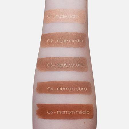 Be Aurora Base Camaleão Matte Nude Médio Nº 02 30ml