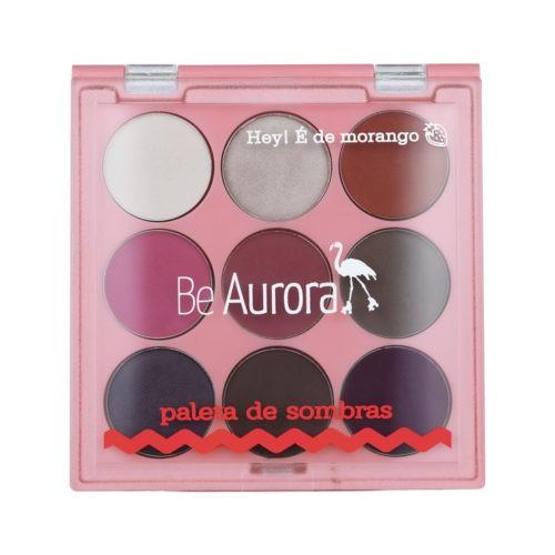 Be Aurora Paleta de Sombras 9 Cores Hey É de Morango Nº01