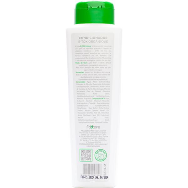 Fattore Condicionador B-tox  Organique Manutenção Liso 500ml