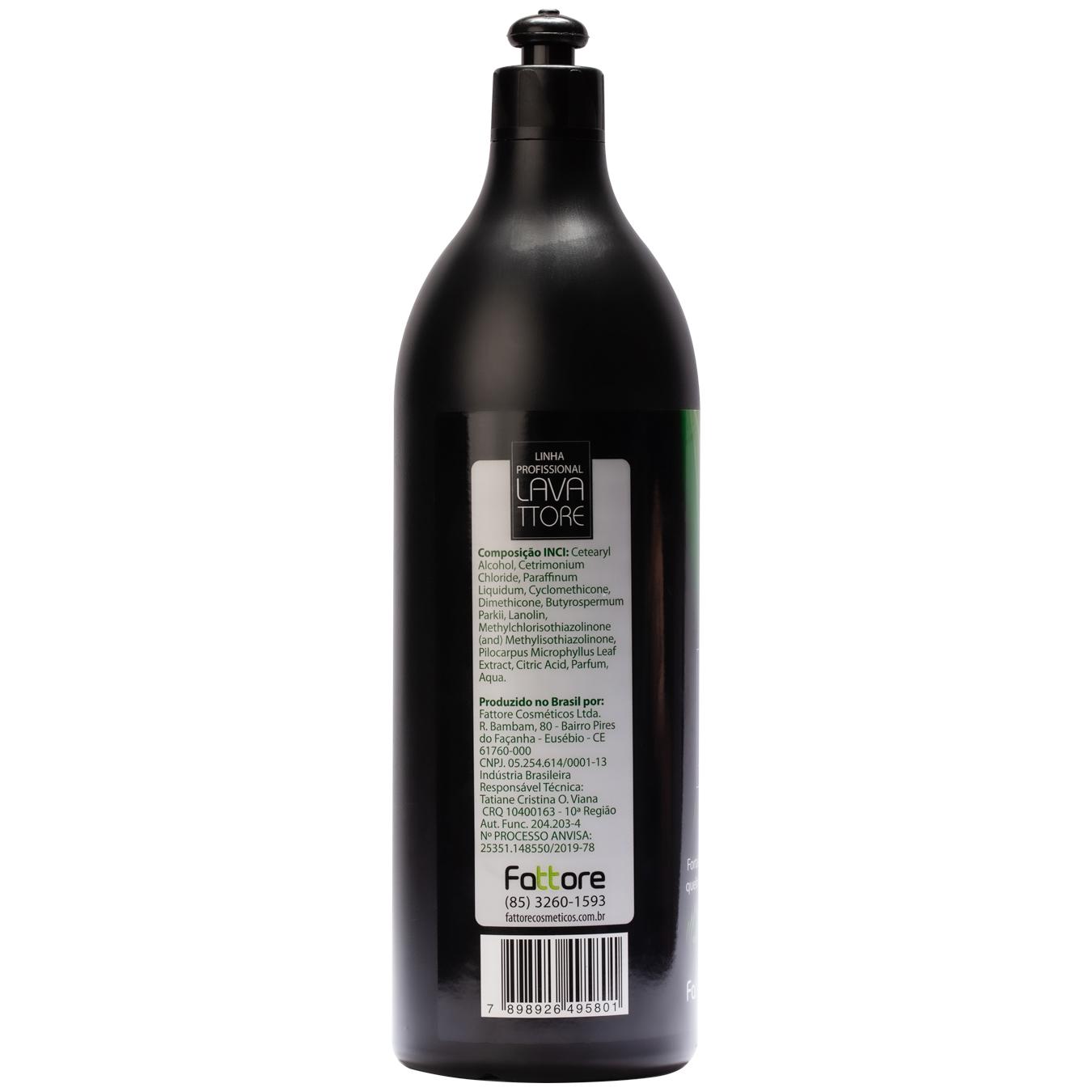 Fattore Creme para Pentear Linha Profissional Lavattore Jaborandi 1,030L