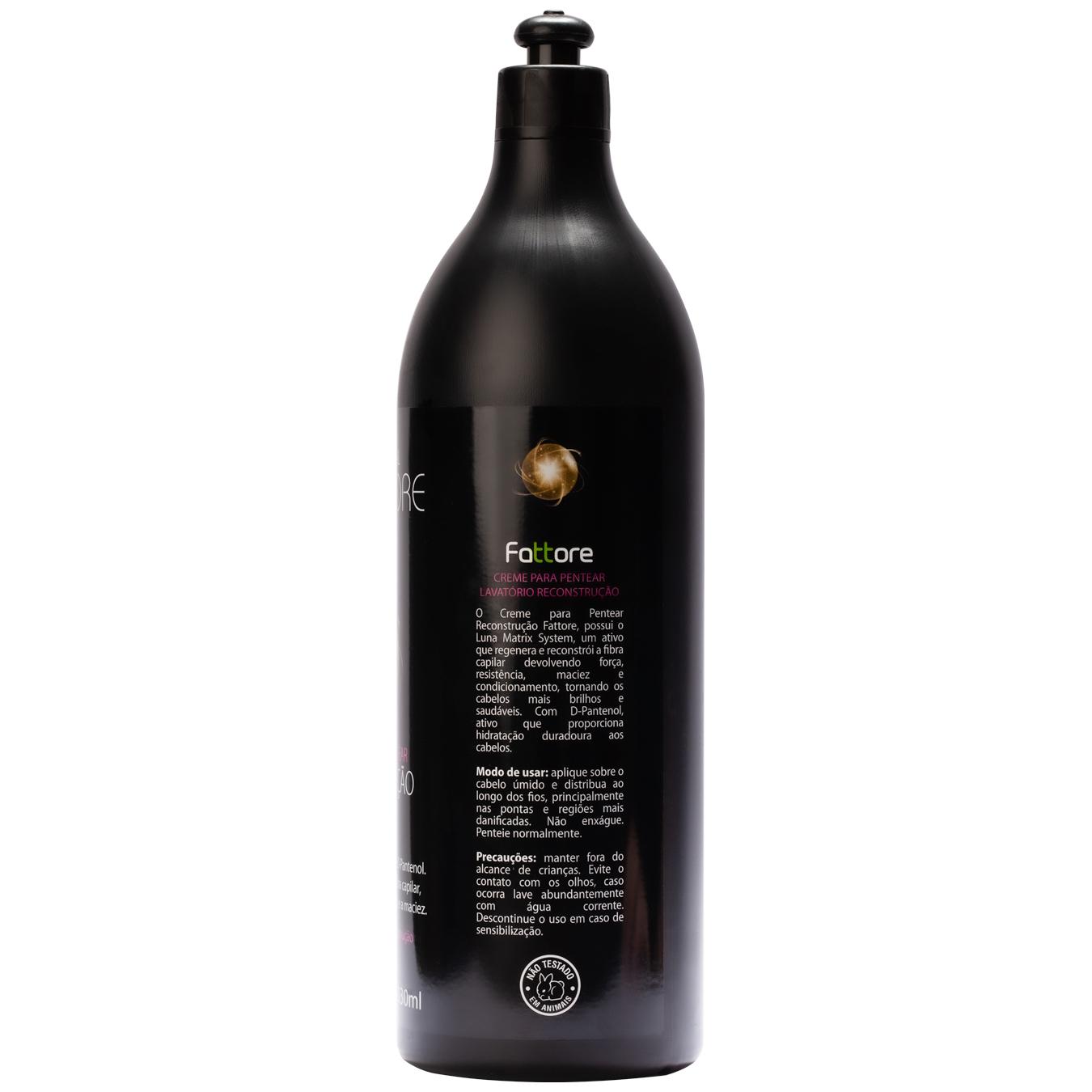 Fattore Creme para Pentear Linha Profissional Lavattore Reconstrução 1,030L