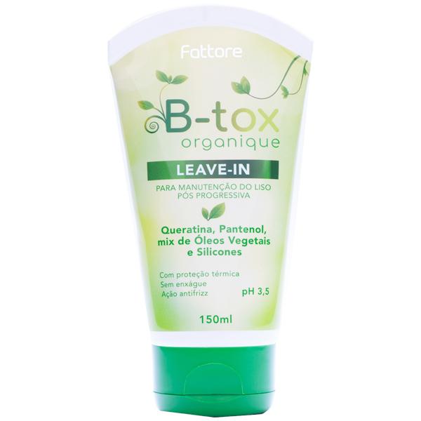 Fattore Leave-in B-tox Organique Manutenção Liso 150ml