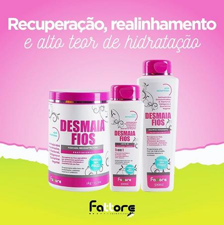 Fattore Shampoo Hidratante Desmaia Fios 500ml