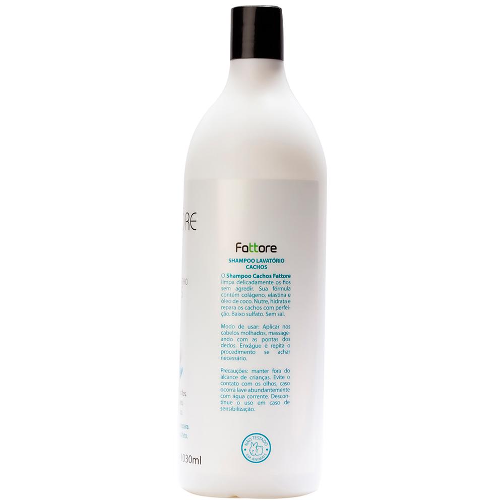 Fattore Shampoo Linha Profissional Lavattore Cachos 1,030L