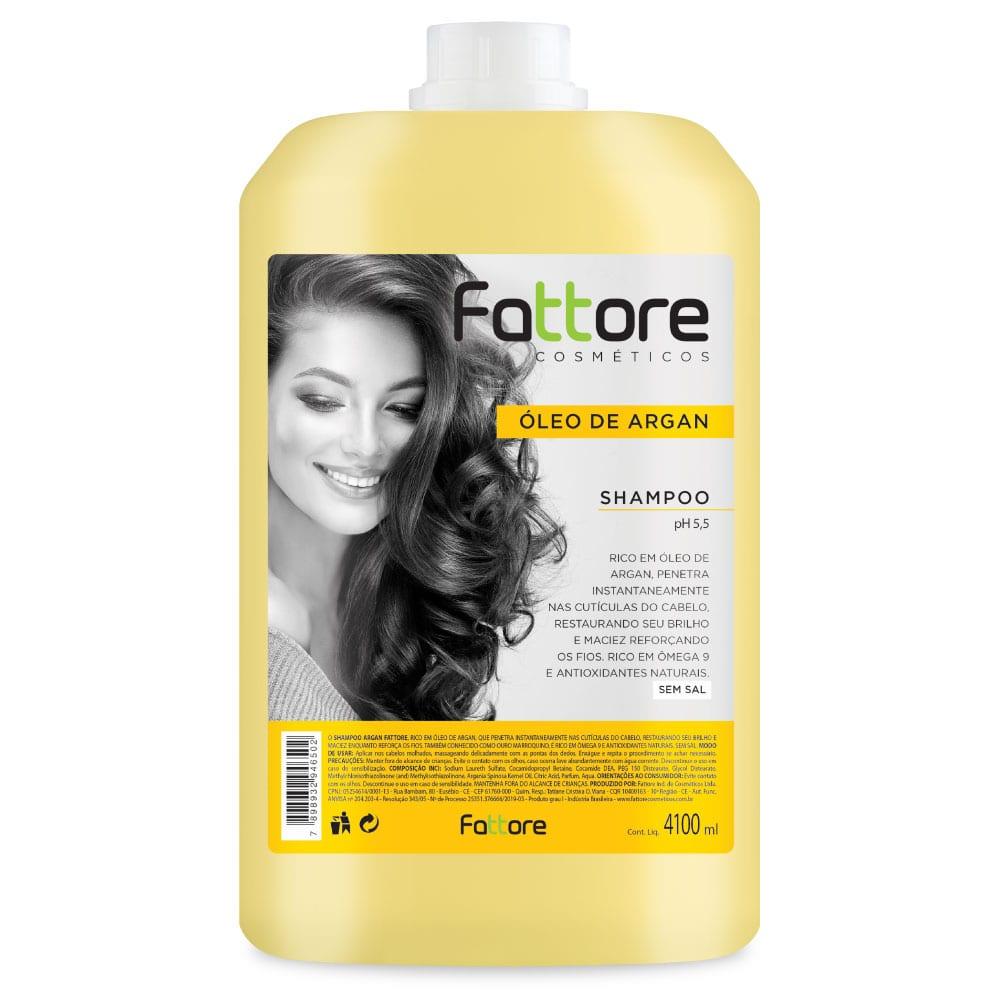 Fattore Shampoo Óleo de Argan 4.1L
