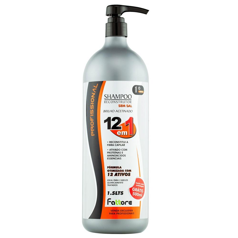 Fattore Shampoo Reconstrutor 12 em 1  1,500L