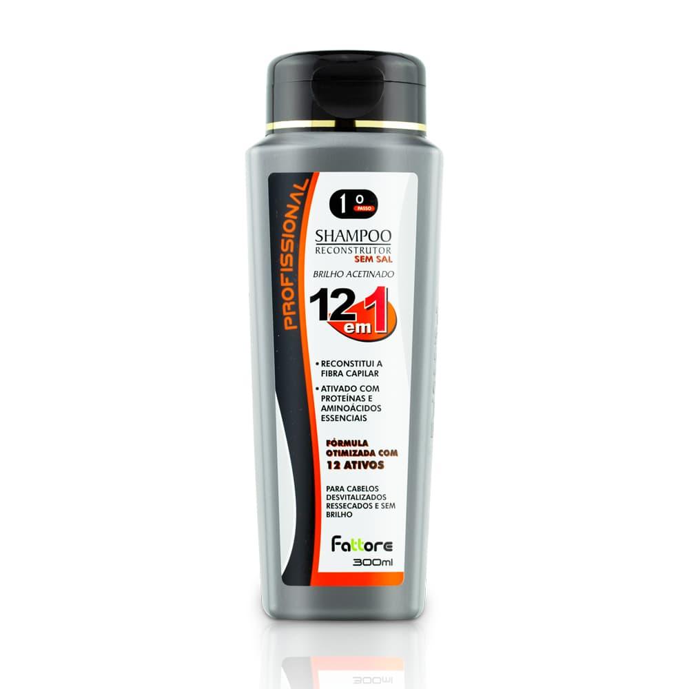 Fattore Tratamento 12 Em 1 Shampoo Reconstrutor Sem Sal 300ml
