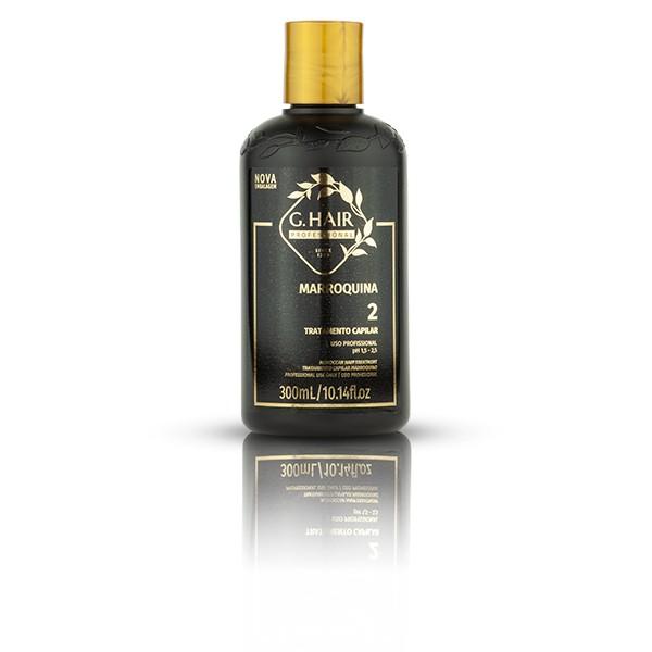 G.Hair KIT Escova Marroquina (Shampoo 300ml e Tratamento 300ml)