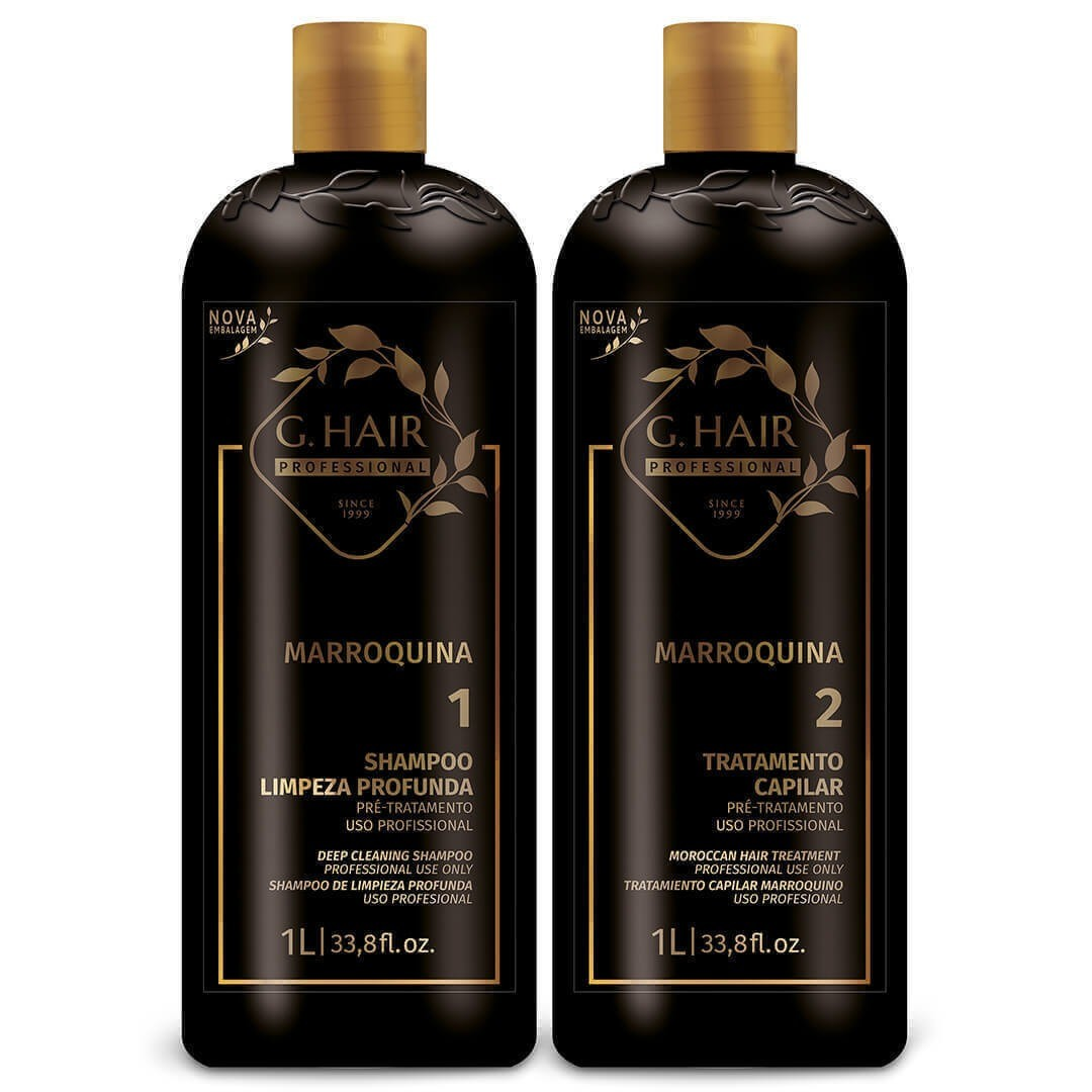G.Hair KIT Escova Marroquina 1L