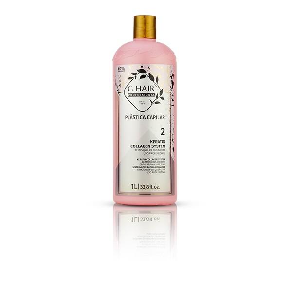G.Hair KIT Plastica Capilar 1L (Shampoo 1L + Reposição Keratina 1L)