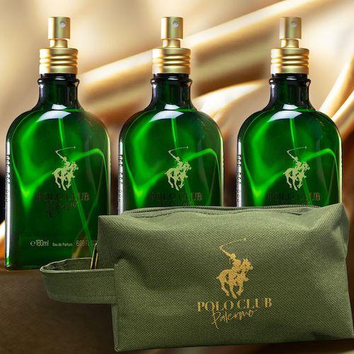 Kit 3 Polos + Necessaire - Perfume Polo Club Palermo 180ml