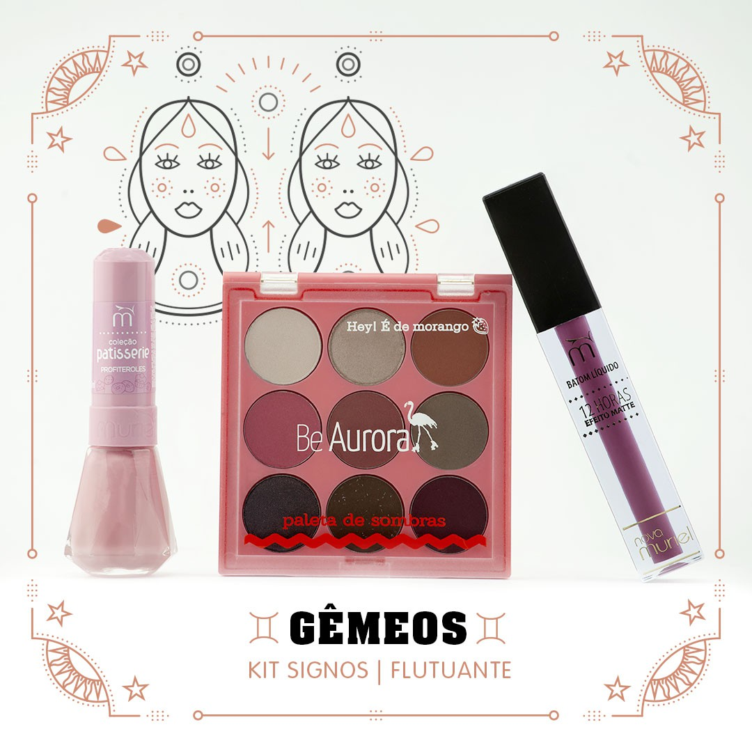 Kit Signos do Zodiaco Gêmeos Flutuante