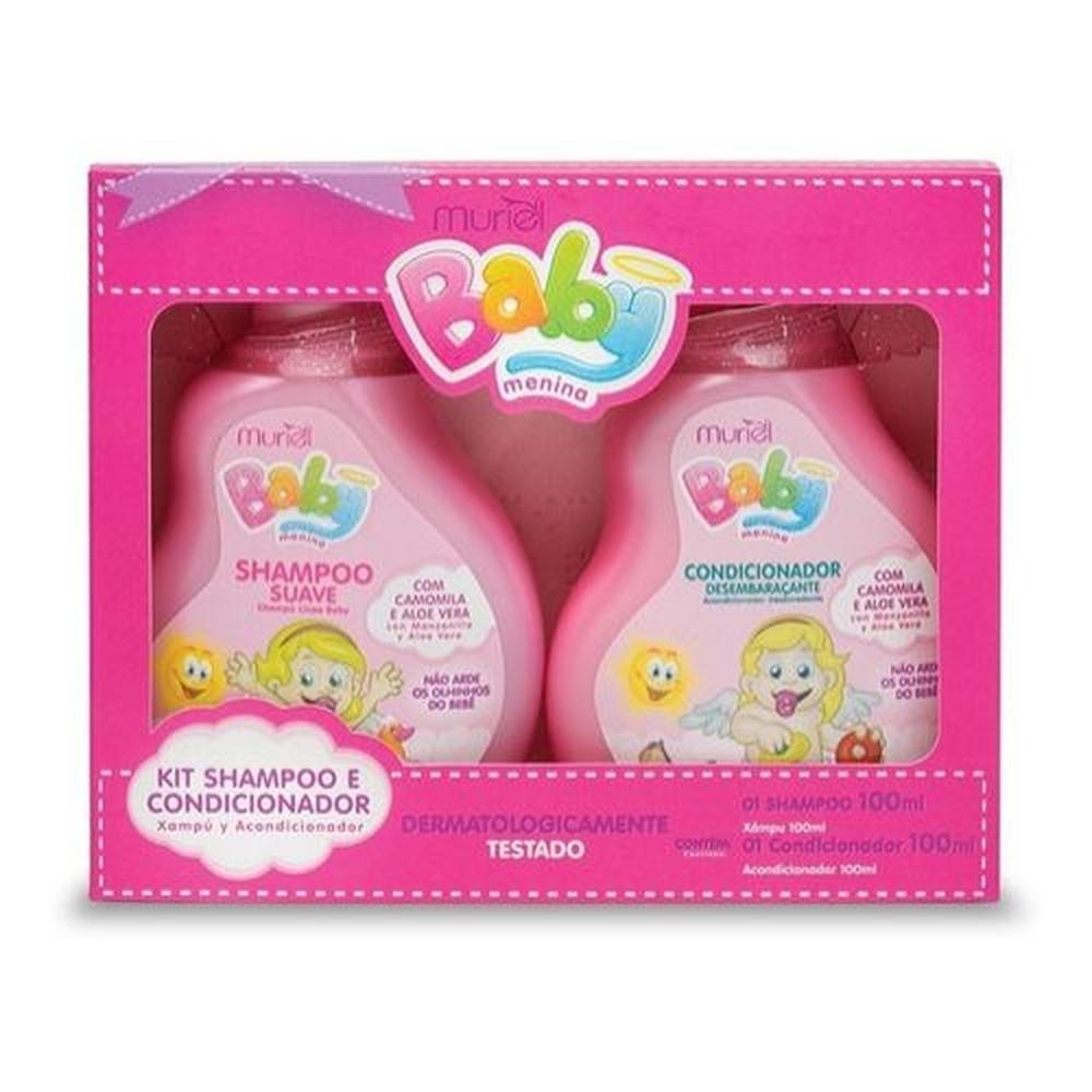 Muriel Kit Baby Menina Shampoo e Condicionador 100ml