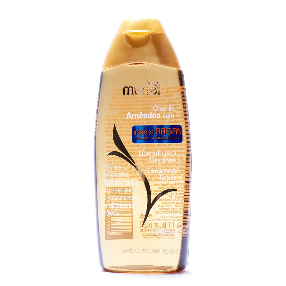 Óleo corporal de Amêndoas c/ Argan 150ml ação desodorante