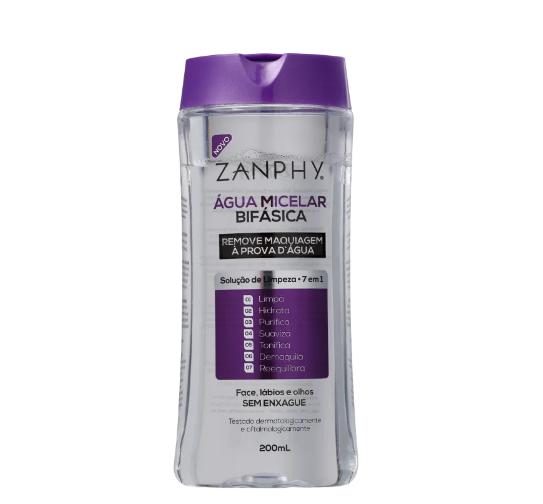 Zanphy Água Micelar Bifásica 7 em 1 200ml