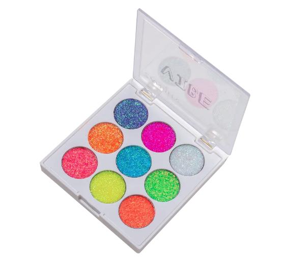Zanphy Paleta de Glitter Linha Vibe Neon Nº01