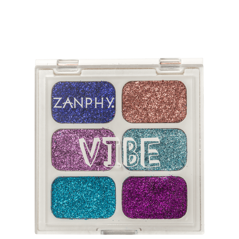 Zanphy Paleta de Glitter Linha Vibe Nº 02