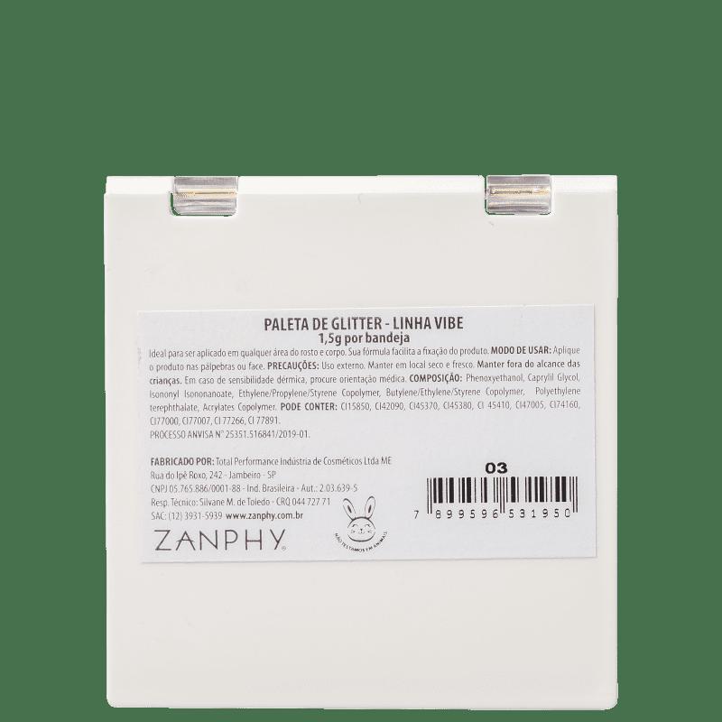 Zanphy Paleta de Glitter Linha Vibe Nº 03