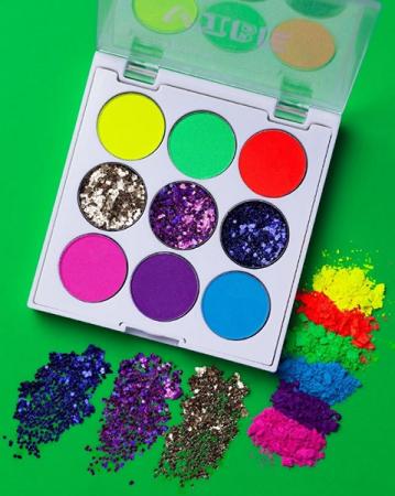 Zanphy Paleta de Sombras Linha Vibe Neon com Glitter Nº01
