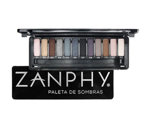 Zanphy Paleta de Sombras Metallic Preta 12 Cores
