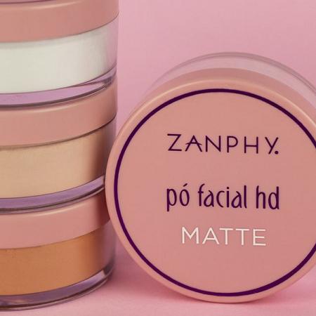 Zanphy Pó Facial HD Matte Linha Pele Médio 15g