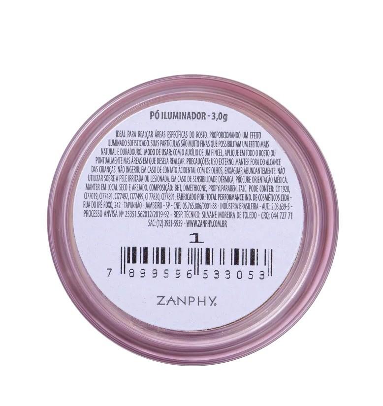 Zanphy Pó Iluminador Solto Facial Glow Cód 01 3g
