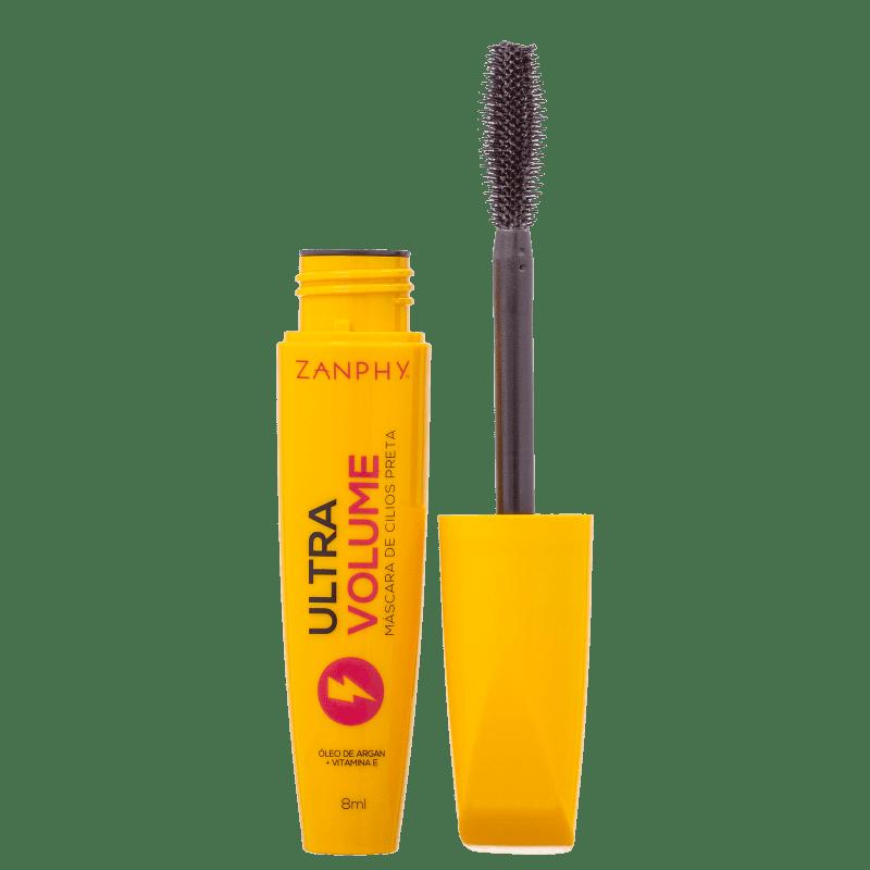 Zanphy Rímel Preto Máscara para Cílios Ultra Volume com Óleo de Argan e Vitamina E 8ml