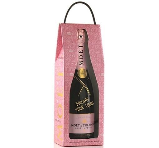 CHAMPAGNE MOET & CHANDON IMPERIAL ROSE LOVE BAG 750ML